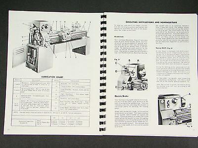 """19"""" Regal Lathes Instructions /& Parts Manual 15"""" 17"""" LeBlond 13"""""""