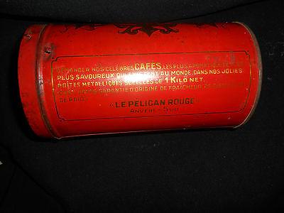 Le Pelican Rouge Cafe Torrefie Kaffeedose ca. 1920 aus Sammlungsauflösung 12