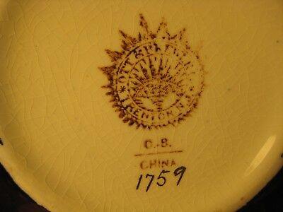 Antique Ott & Brewer Cobalt Pitcher And Soap Dish Trenton Nj Usa C1870 2 Items 7
