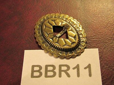 TRINITY CONCHOS ROUND BR6 Solid Brass VINTAGE High Quality USA Leather Crafts !