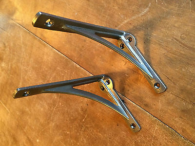 "Pair 6"" x 4"" SMALL INDUSTRIAL ANTIQUE CAST VICTORIAN SHELF BRACKETS ~ BR22p(x2) 2"