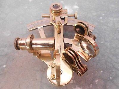 "Nautical 4"" Sextant Kelvin & Hughes London Solid Brass Finish Navy Gift Item 2"