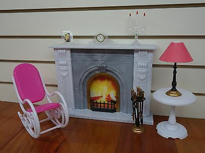 Gloria,Barbie Size Doll House Furniture/(96006) Fire Place Play Set 2