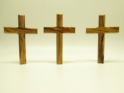 Olive Wood Christian Wall Cross - Hand Made in the Holy Land - Jerusalem 4