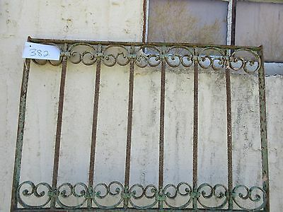 Antique Victorian Iron Gate Window Garden Fence Architectural Salvage Door #382 2