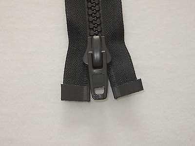 YKK Vislon 10V Reißverschluss nicht Teilbar Schwarz mit Kunststoffschieber