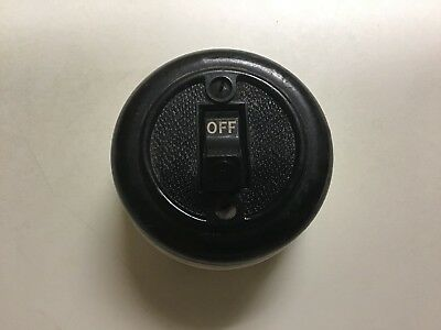 H & H Porcelain Round On / Off Light / Power Switch 3