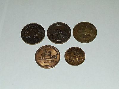 Vintage 1976 Massachusetts Bronze Bicentennial Commemorative Medals Coin Lot (5)