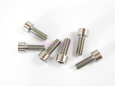 Allen Key Screw GR5-2//6//10pcs M6 x 15mm Titanium Ti Bolt Hex Socket Cap Head