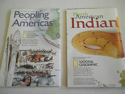 """6  Maps From  National Geographic Society.""""People Of The America"""" 2"""