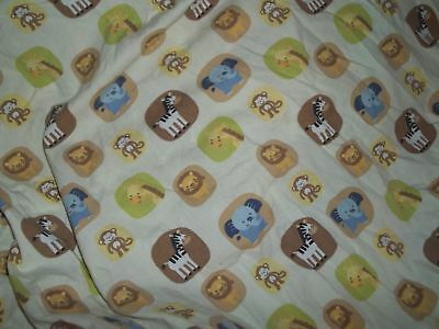 Tiddliwinks Safari Jungle Zoo Animals Fitted Crib/Toddler bed Sheet {Fabric} 2
