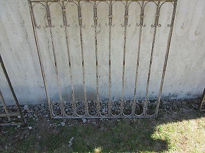Antique Victorian Iron Gate Window Garden Fence Architectural Salvage Door #370 4
