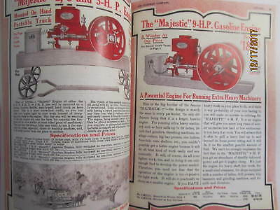 1916 Hartman Co Majestic Gas Engine Catalog All sizes, hit miss, mags, pumps 4