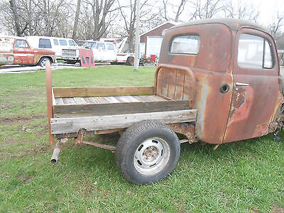 1949 FORD F1 Rat Rod Project Bobber Truck S10 Frame GREAT START HOT ROD LOOK