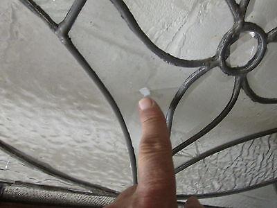 Monumental 9 Ft. Pair Beveled Antique Glass Door Side- Lites W/10 Jewels # 531 10