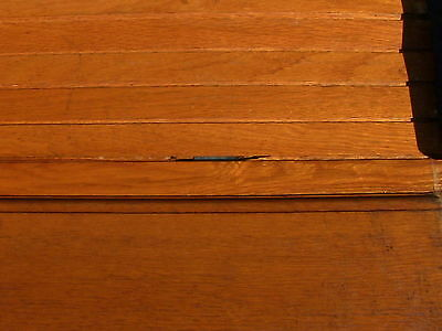 Victorian Antique Oak Wood Tambour Door Partition Overhead Roll Up Parlor Entry 10