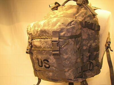 US ARMY ACU ASSAULT PACK 3 DAY MOLLE II BACKPACK w/ Stiffener VGC Made in USA 9