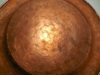 Vintage Arts & Crafts 12 inch Hammered Copper Plate 589 grams 9