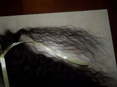 """*SOFT BLACK""""~VERY CURLY 10in. FOR REBORN~SILKY~1/2 OZ~YEARLING ANGORA MOHAIR 2"""