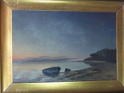 *Marius Nielsen* Listed Danish Artist Antique Seascape Oil On Canvas Painting 6