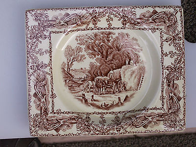 SET OF 4 Royal Staffordshire Great Britain The Biarritz A J Wilkinson Dish