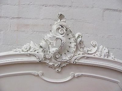 Stunning Antique French Double Rococo Crested Bed - C1920 6