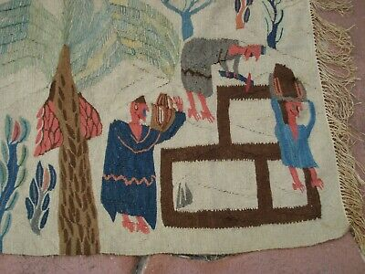 Hand Knotted Vintage Egyptian Kilim Weaving Rug from Ramses Wissa Wassef shops 5