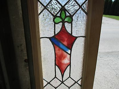 ~ ANTIQUE AMERICAN STAINED GLASS WINDOW ~ 12 x 37.5 ~ ARCHITECTURAL SALVAGE 3