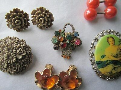 Jewellery various - earrings  and. broaches 2