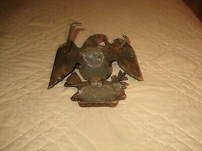 Very Old Bronze or Brass Eagle With Hand Wrought Loop. Read Description. 4