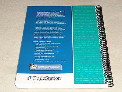 TRADESTATION EASYLANGUAGE HOME Study Course CD + BOOK stock options etf  trading