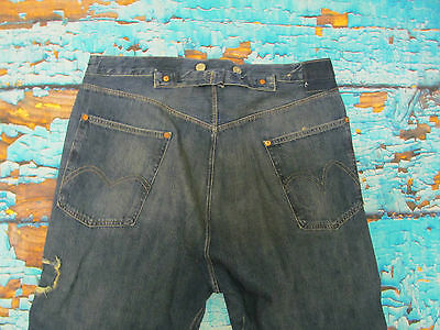 26b54fab709 ... Levis Vintage Lvc 1915 501 White Oak Blue Selvedge Jeans Cinch Back  Buttons W 30 8