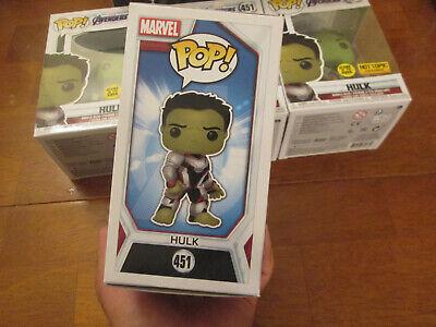 Funko Pop Marvel Avengers Endgame Hulk 451 Glows In The Dark Gitd Hot Topic 2019 4