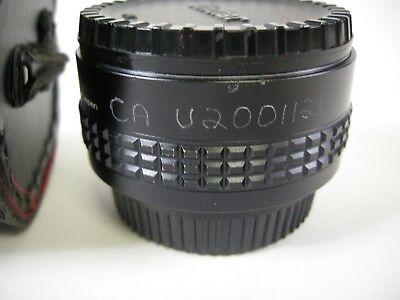 Vivitar MC Tele Converter 2x-22 w/ caps and case PK Mount 2