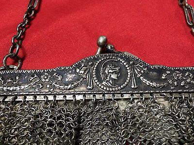 Antique Greek Pewter Womens Purse Alpacca Handbag Ladies Greece Grecia Peltro 9