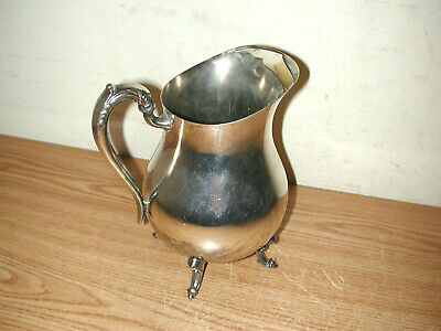 Vintage F.b. Rogers Silver Plated Footed Water Pitcher With Ice Guard 2