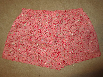 SLEEP SHORTS - Nine & Company - Pink Floral - Cotton - Sz XL - NWOT 4