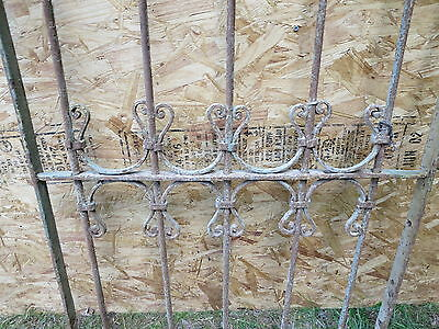Antique Victorian Iron Gate Window Garden Fence Architectural Salvage Guard F 2