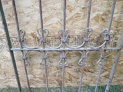Antique Victorian Iron Gate Window Garden Fence Architectural Salvage Guard F 2