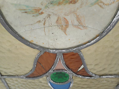 Vintage Stained Glass Window Panel (3143)NJ 6