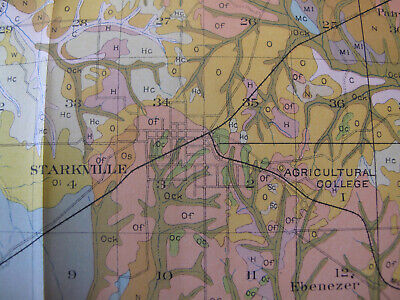 Color Soil Map Oktibbeah County Mississippi Starkville Sturgis Osborn Maben 1979 2
