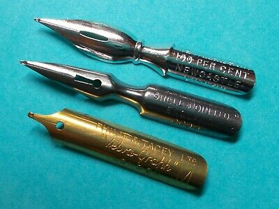 21x vintage dip pen nibs all different calligraphy or collect  plume pluma