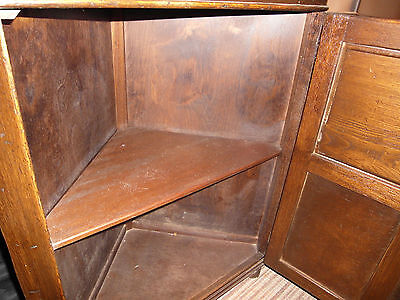 Vintage Jay.c. Distress Oak Corner Cabinet 9
