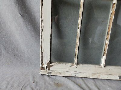 Antique French Door Window Cabinet Bookcase Casement Vtg Shabby 61x22 186-17P 12