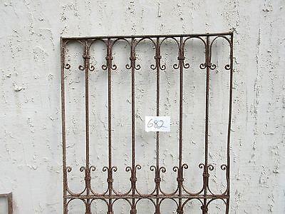 Antique Victorian Iron Gate Window Garden Fence Architectural Salvage Door #682 3
