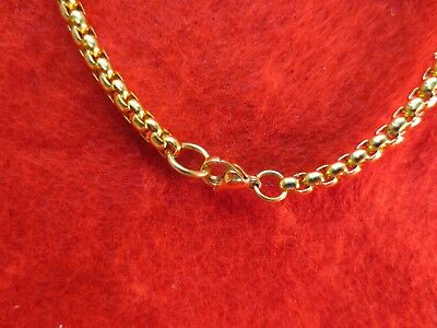 """16""""-60"""" 4Mm Stainless Steel Gold, Silver, Black Smooth Box Rope Chain Necklace 3"""