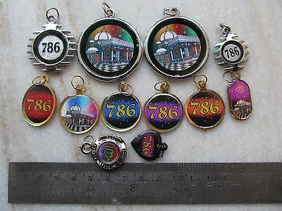 Tribal Ayaat Quran Islamic Holy Spiritual Metal Amulet Necklace Pendent Lot 12P 8