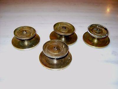 A lot of 4 Greece Vintage rare Solid Brass Door Knobs Handles 4