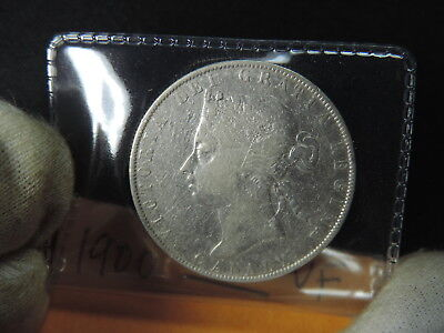 1900 50 Cent Coin Canada Victoria Fifty Cents .925 Silver VF Grade 7