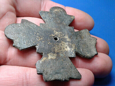 Ancient Byzantine Bronze Cross 8
